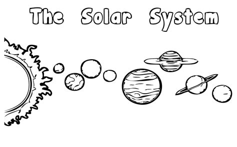 solar system coloring pages    print