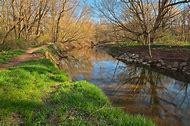 Rocks Creeks Spring Scenes