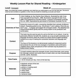 guided reading lesson plan template 8 download free With daily lesson plan template for kindergarten