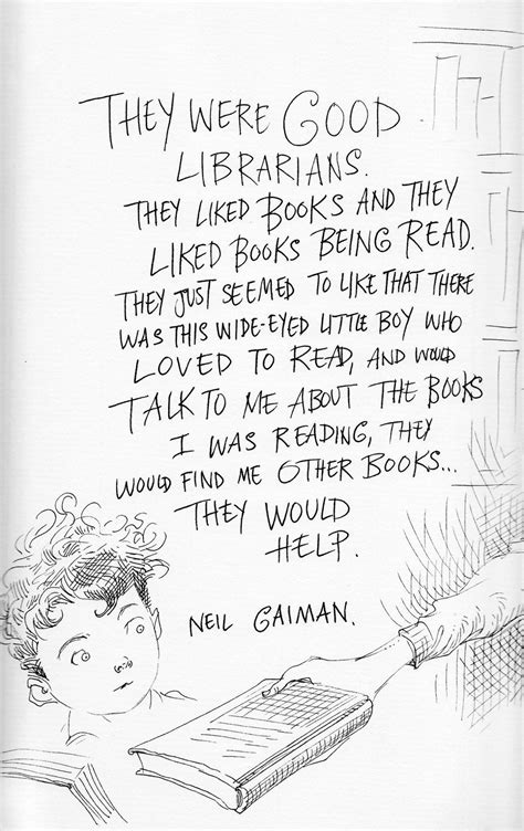 These Illustrated Neil Gaiman Quotes About Librarians Will