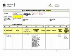 bizsafe risk assessment With scaffolding risk assessment template