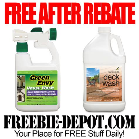 free after rebate outdoor cleaning chemicals free deck and house wash freebie depot