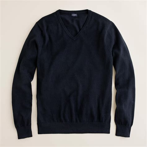 mens v neck sweater j crew slim cotton v neck sweater in black for