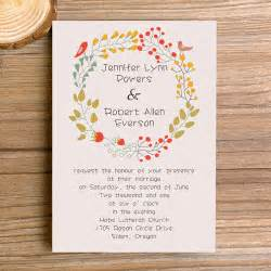 fancy wedding invitations wedding invitations bohemian floral affordable ewi300 as low as 0 94