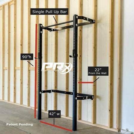prx profile rack prx performance wall mount folding squat rack with 1674