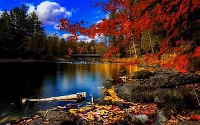 Fall Desktop Autumn Lake Nature 4k Scenery