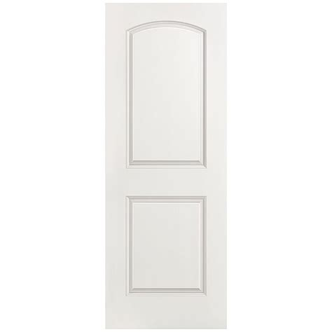 home depot prehung interior door masonite 28 in x 80 in roman smooth 2 panel round top hollow core primed composite single