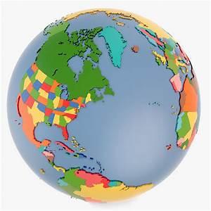3d country world globe model