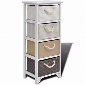 Rangement Tiroir Bois : acheter vidaxl armoire de rangement 4 tiroirs bois pas ~ Premium-room.com Idées de Décoration