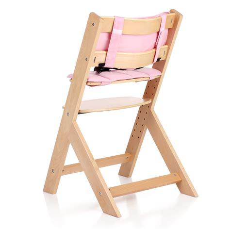 coussin chaise haute bois chaise haute bébé en bois réglable en hauteur chaise