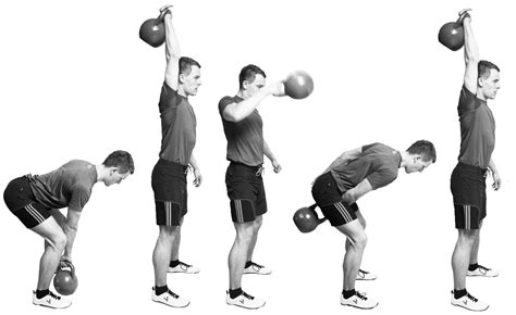 kettlebell snatch snatches arm clean jerk kb swing dumbbell olympic bent abs knees bottom should thrusters prepare technique exercises way