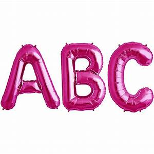 balloon foil letter large magenta foil balloons With mylar letter balloons