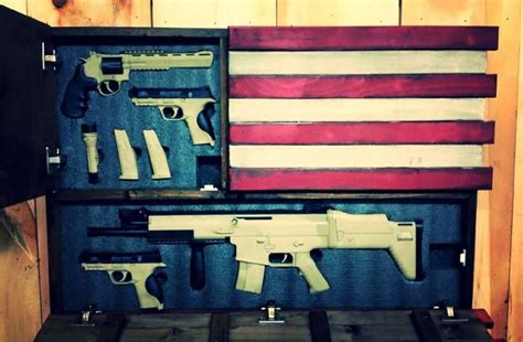Diy Hidden Gun Cabinet Plans by Deluxe Home Defense Concealment Flag Model Dual Handgun