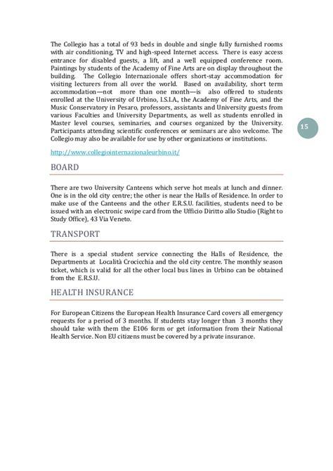 Ufficio Erasmus Urbino by A Guide For International And Erasmus Students