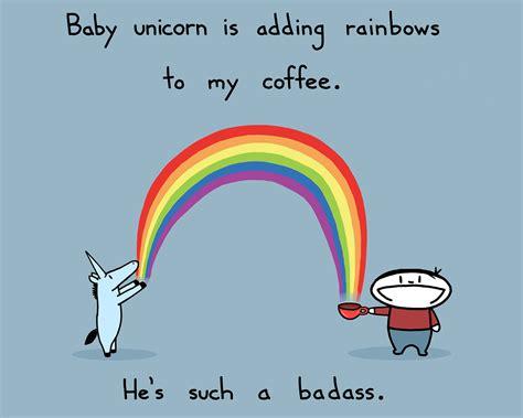 Unicorn Rainbow Meme - baby unicorn rainbow coffee 8 5x11 art print 15 00 via etsy funnies pinterest baby