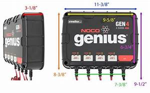 Noco Genius On-board Battery Charger - Ac To Dc - 4-bank - 40 Amp