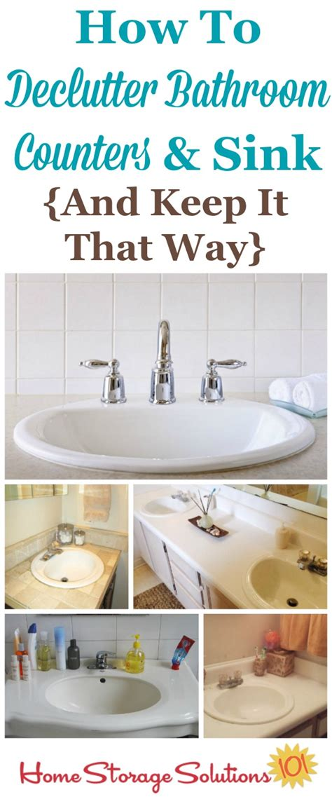 How To Declutter Your Bathroom Sink & Counter {& Make It A
