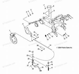 Polaris Atv 2005 Oem Parts Diagram For Rear Brake