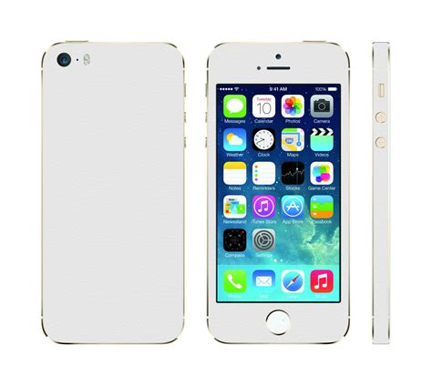 wood iphone 4 4s 5 5s iphone skin sticker leather white decal mac skins
