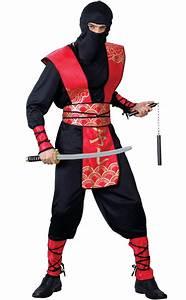 Adult DELUXE NINJA MASTER Martial Arts Fighter Samurai Fancy Dress Costume Male | eBay