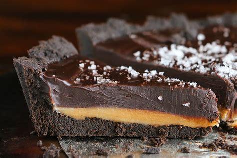 dark chocolate salted caramel pie   oreo cookie