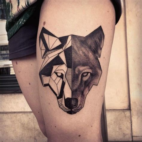 perfect geometric tattoos  meanings  collection geometric tattoos lone wolf