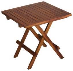 bare decor ravinia folding teak small table finish