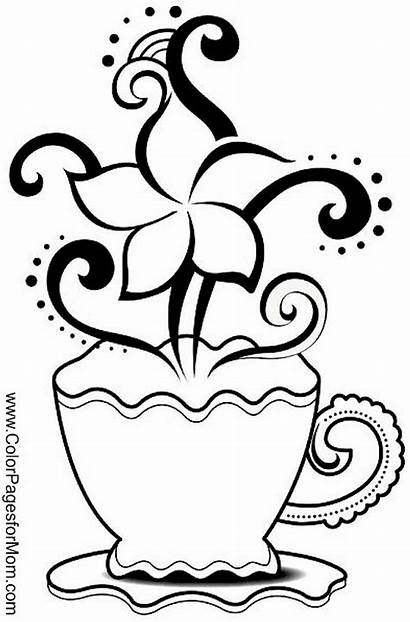 Coloring Pages Printable Coffee Adult Cup Chavo