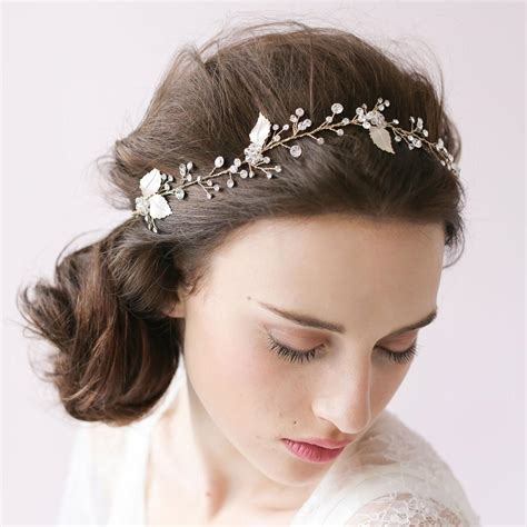 Bridal Accessories by Sparkle Hair Vine Petals Blossom Wedding Headband