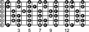A Guitar Note Chart With Natural Notes Labeled  Download A