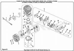 Homelite Ut10544 14 In  35cc Chain Saw Parts Diagram For