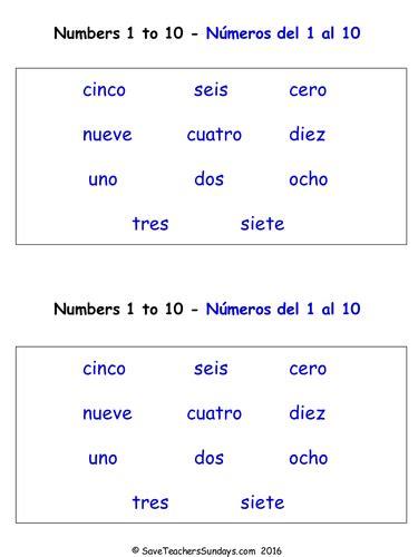 numbers    spanish worksheets games activities