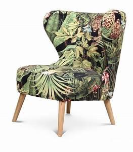 Fauteuil Velours Lipstick : fauteuil bois et tissu ~ Zukunftsfamilie.com Idées de Décoration