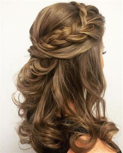 gorgeous half braided mid length prom hairstyles 2017