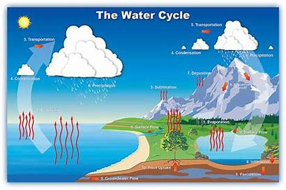 Water Cycle Science Change Grade Earth Evaporation