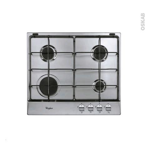 plaque cuisine gaz plaque de cuisson 4 feux gaz 60 cm inox whirlpool akr 331 ix oskab