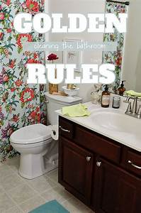 Golden rules for cleaning the bathroom for Going to the bathroom alot