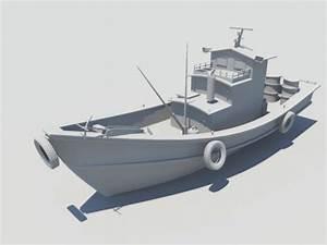 Old Fishing Boat 3d Model Maya Files Free Download