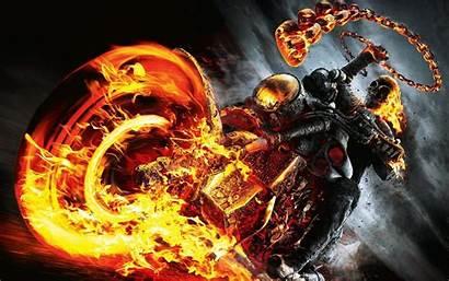 Rider Ghost Bike Wallpapers Fire Skull Vengeance