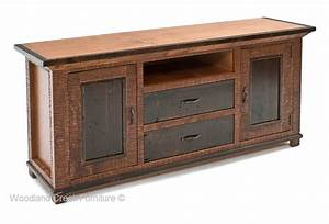 Elegant Rustic TV Entertainment Center, Refined Cabinet