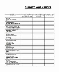 printable budget worksheet template 12 free word excel With budgeting sheets template