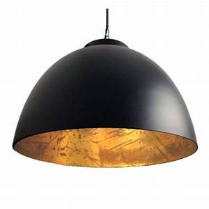Suspension Grande Taille : grande suspension loft noir dor contrast millumine ~ Teatrodelosmanantiales.com Idées de Décoration