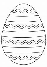 Easter Egg Coloring Sheets Printable Eggs Simple Supercoloring Colouring Osterei Lines Straight sketch template