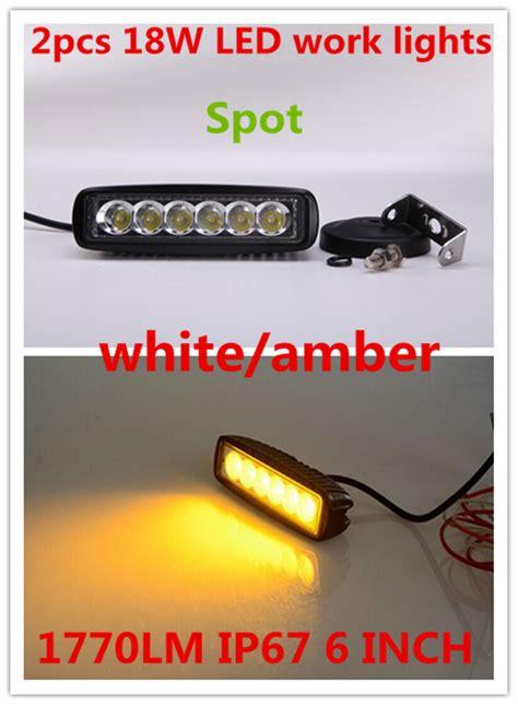 assem 18w led spot work 2x6 39 39 drl 10 30v 18w white amber spot flood led mini work