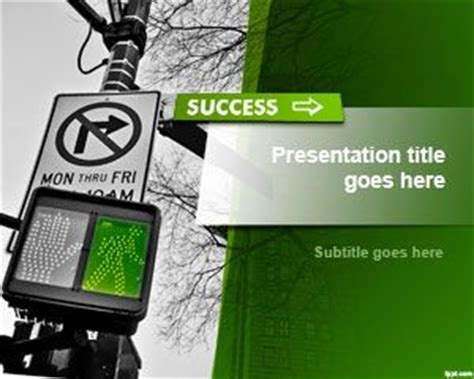 Success Powerpoint Templates Free by Free Road To Success Powerpoint Template