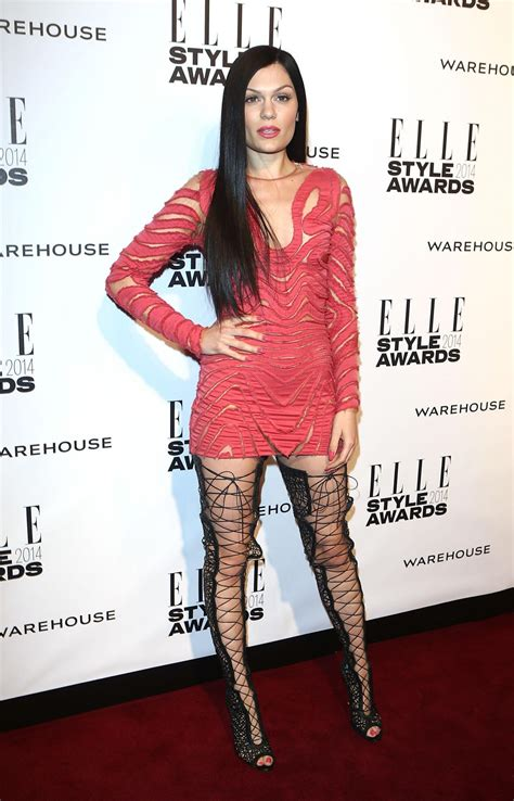 jessie  wearing tom ford mini dress  elle style