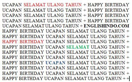 ucapan selamat ulang  birthday sayings