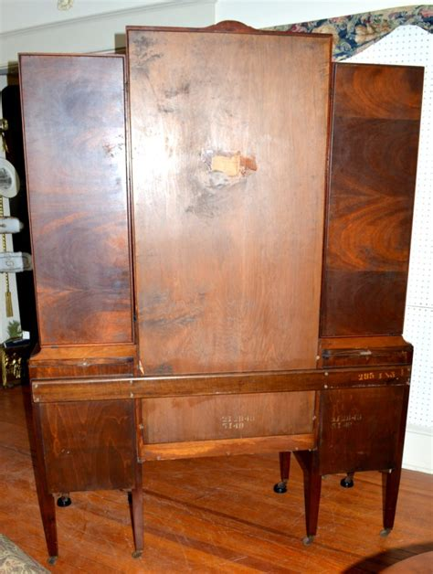 Widdicomb Dresser Mirror by Widdicomb Mirror Mahogany Vanity With Marquetry And