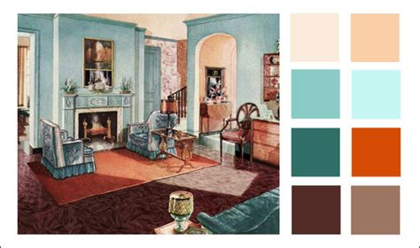 interior home styles 1929 armstrong living room turquoise orange color