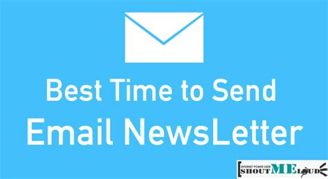 what is the best time to send email newsletter